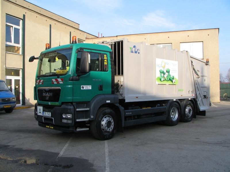 MAN HALLER - vozidlo pro svoz komunálního odpadu