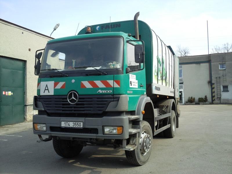 MERCEDES BENZ - vozidlo pro svoz komunálního odpadu