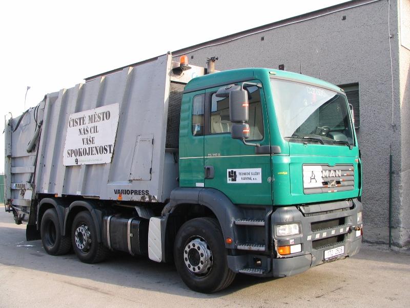 MAN VARIOPRESS - vozidlo pro svoz komunálního odpadu