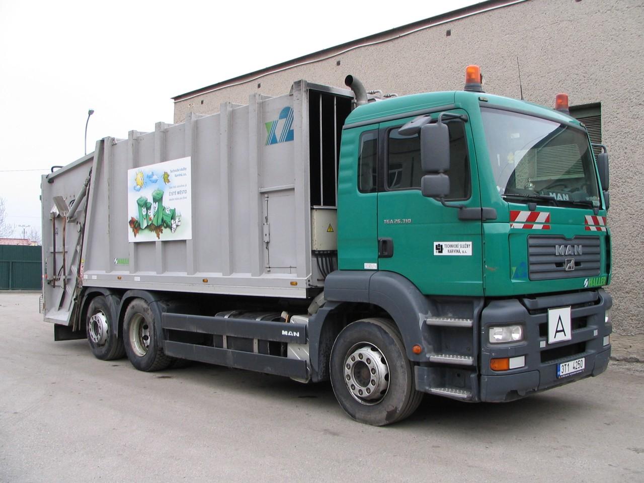 MAN - vozidlo pro sběr komunálního odpadu