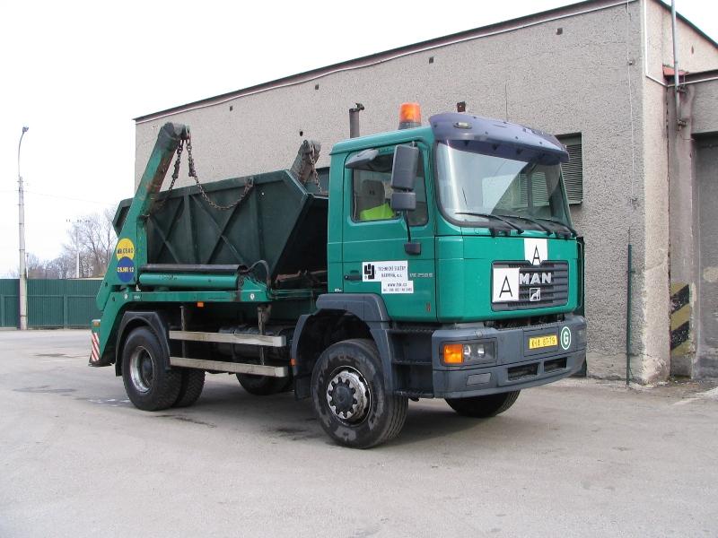 MAN - nosič kontejnerů 8, 13 - vozidlo pro svoz komunálního odpadu