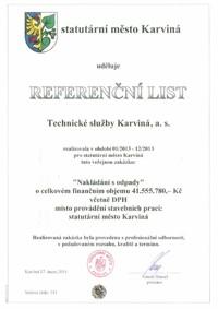 Referenční list č. 2