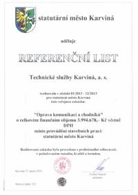 Referenční list č. 3