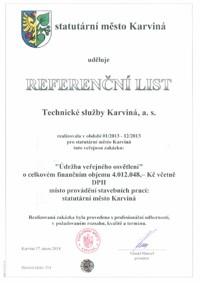 Referenční list č. 4