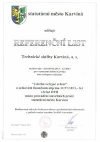 Referenční list č. 5