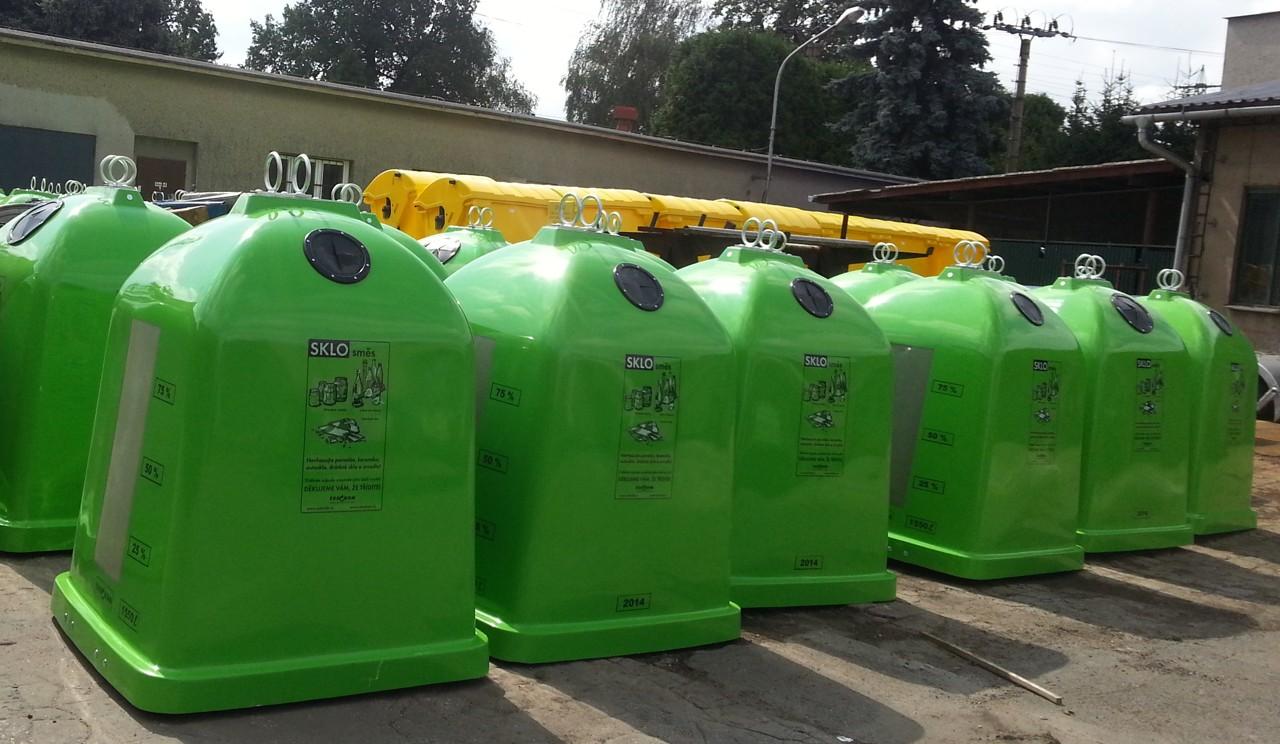 Zelené kontejnery na sklo