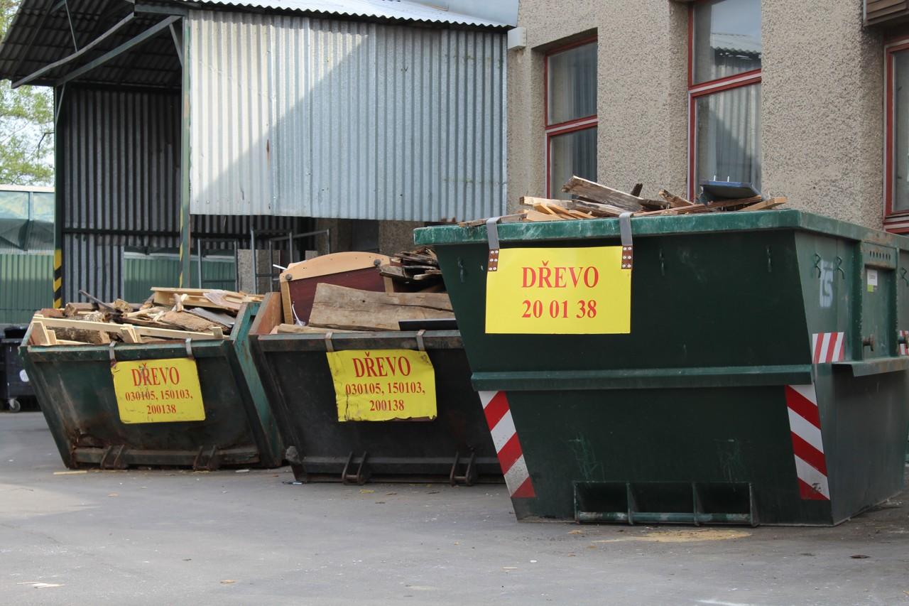 Kontejnery na dřevo - sběrný dvůr TSK