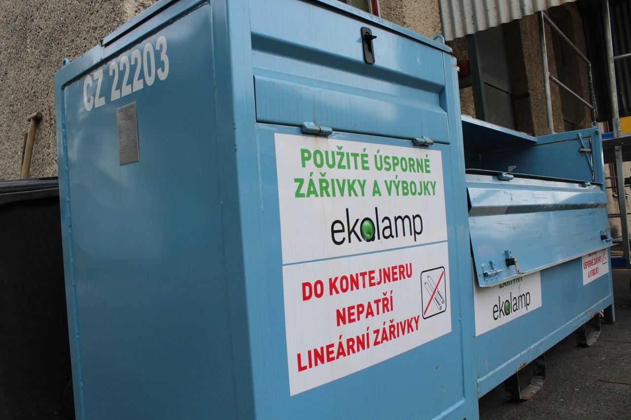 Kontejnery pro vyřazené úsporné zářivky a výbojky - sběrný dvůr TSK