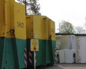 Kontejnery na elektro odpad - sběrný dvůr TSK