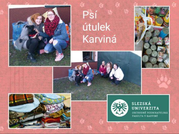 Studenti Slezské univerzity uspořádali sbírku pro pejsky z útulku