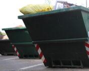Sběrný dvůr - pohled na kontejnery