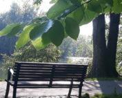 lavička v parku Boženy Němcové v Karviné